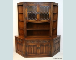 Second Hand Three Part Canted Display Cabinet Dresser Furniture